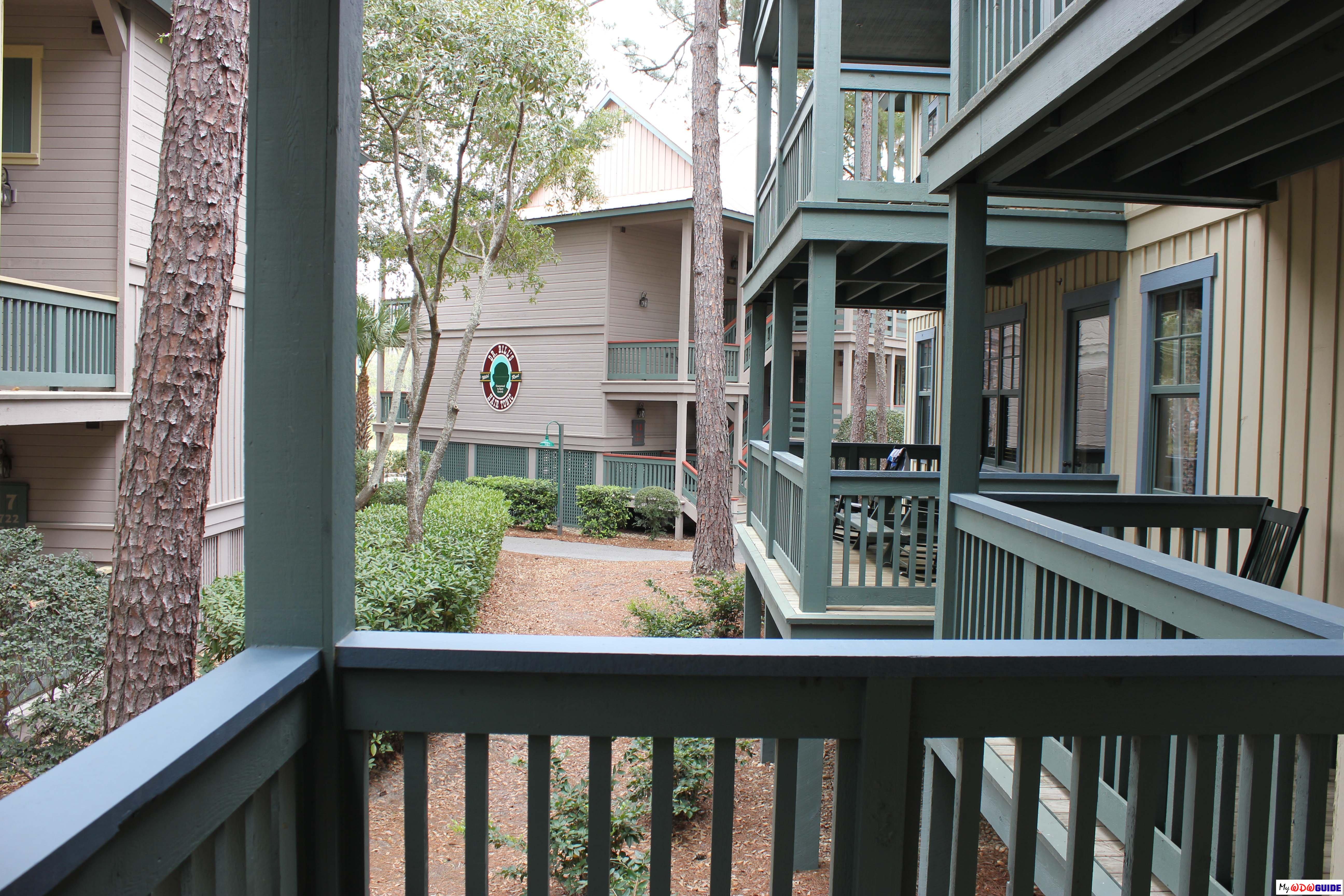 Disney Hilton Head Resort - DVC - 1 Bedroom Unit - Deck View